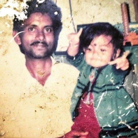 Devoleena Bhattacharjee childhood photo