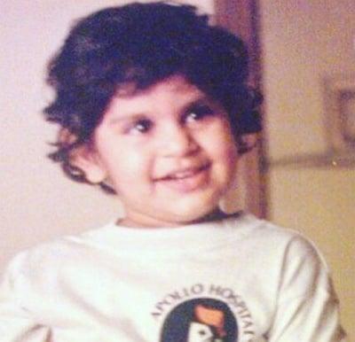 upasana kamineni konidela childhood photo