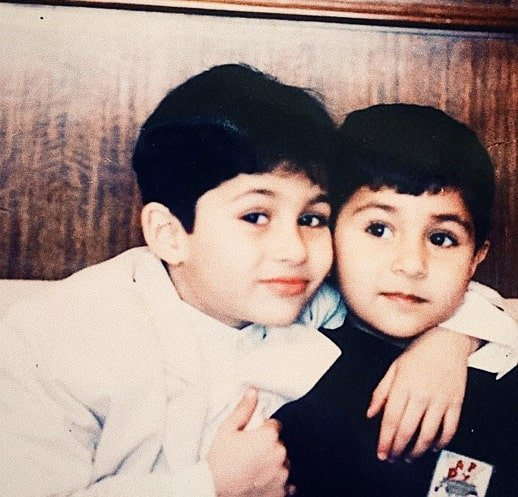 aadar jain childhood photo