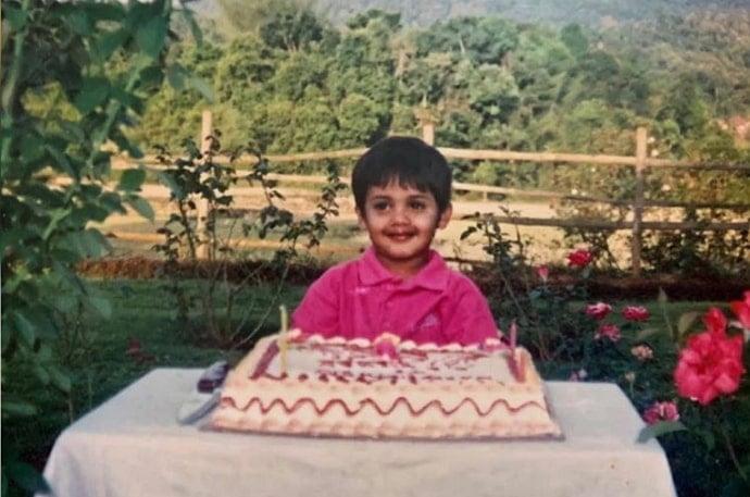 kishen bilagali childhood photo
