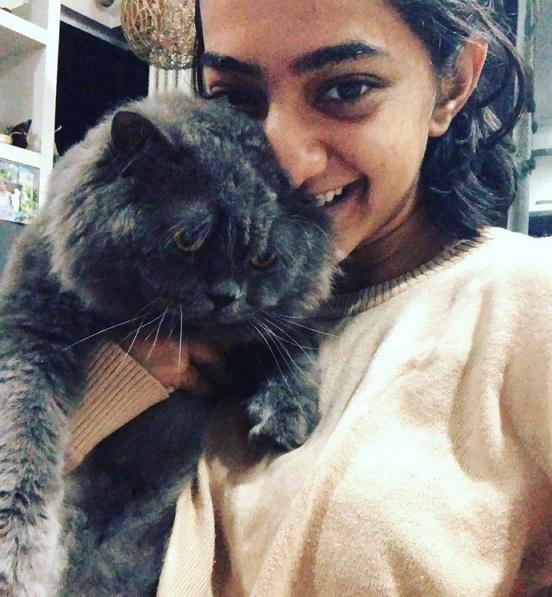 gargi sawant with her cat