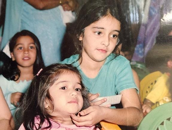 ananya pandey childhood photo