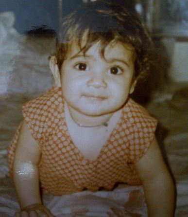 arushi chawla childhood photo