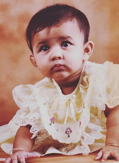 niharika konidela childhood photo