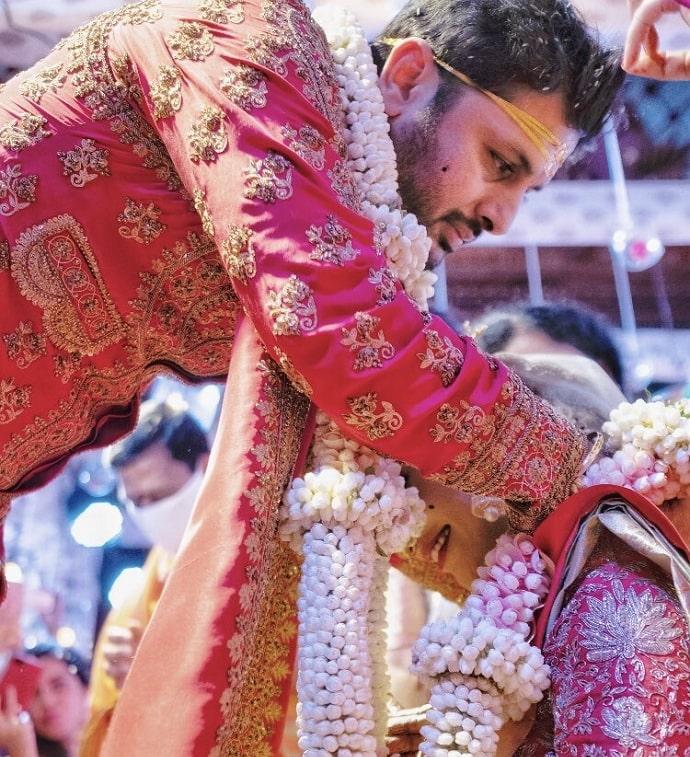 nithiin wedding photo