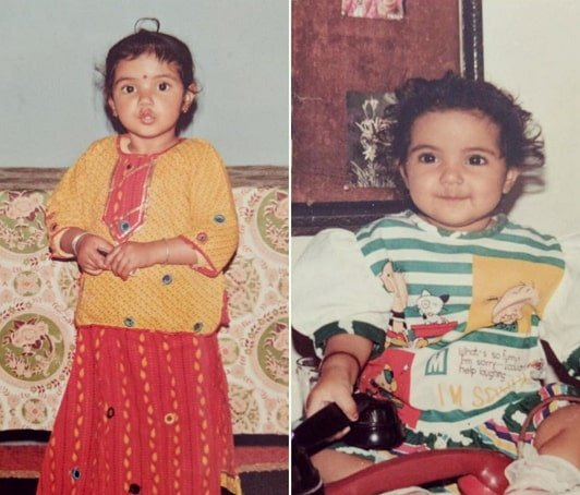jasmin bhasin childhood photo