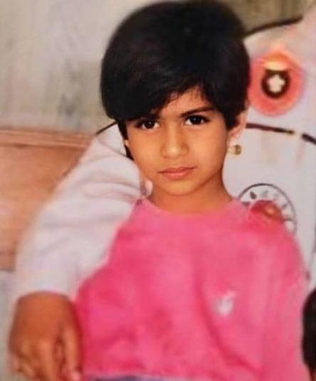 nia sharma childhood photo