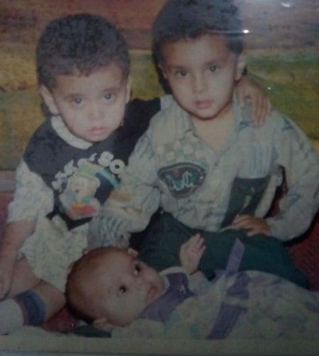 zaan khan childhood photo