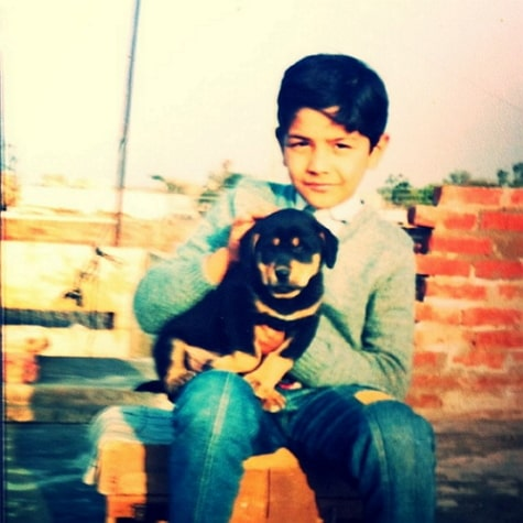 abhinav shukla childhood photo