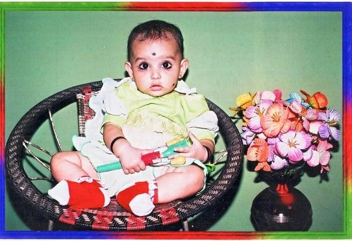 anaswara rajan childhood photo
