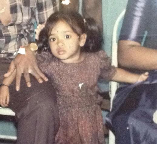 devi nagavalli childhood photo