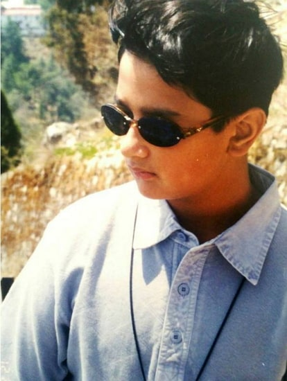 nishant singh malkani childhood photo