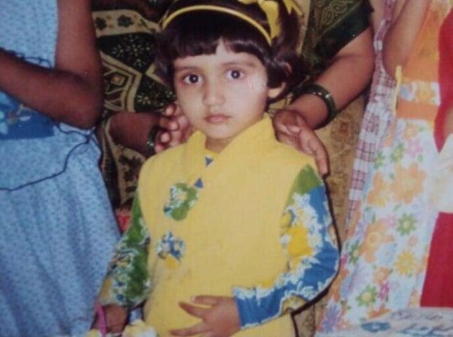prachi singh childhood photo