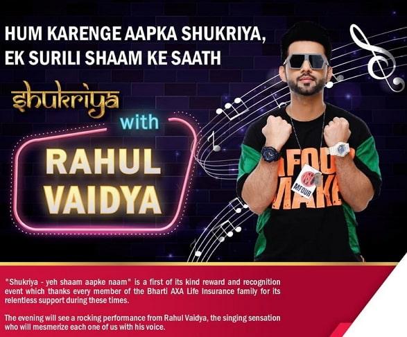 rahul vaidya live performance