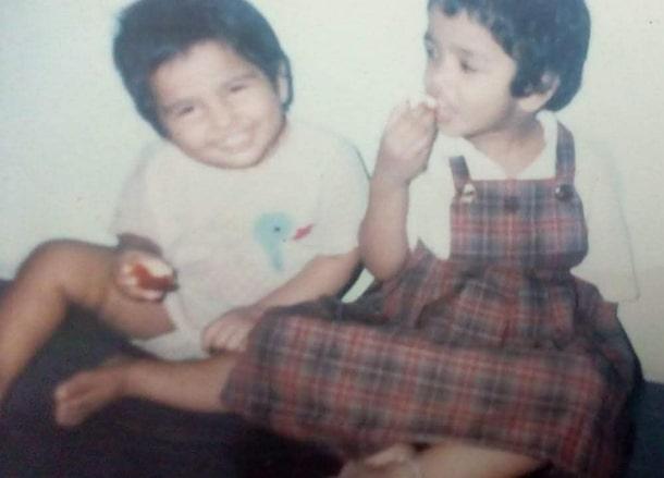 ramya pandian childhood photo