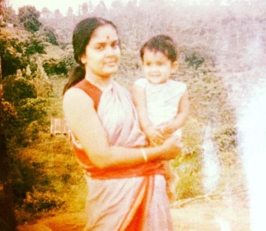 samyuktha karthik childhood photo