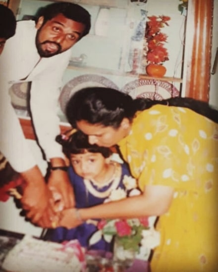 sanam shetty childhood photo