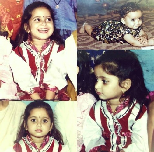 aishwarya sharma childhood photo