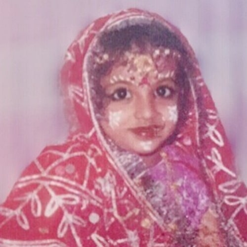 madhushree sharma childhood photo