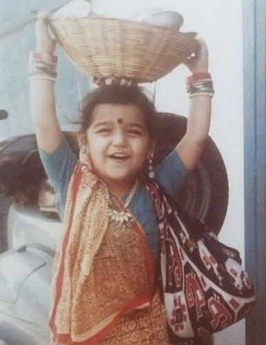 ritika anand childhood photo