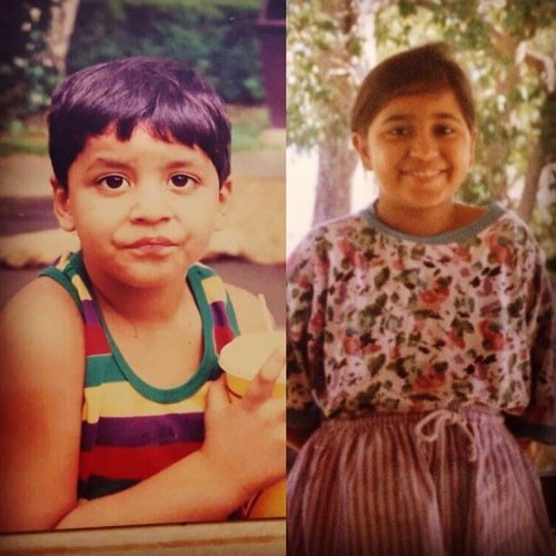 shweta tripathi childhood photo