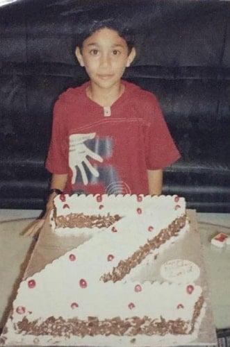 zaid darbar childhood photo