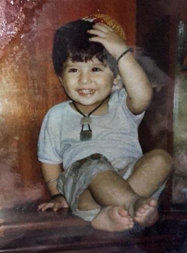 jibraan khan childhood photo