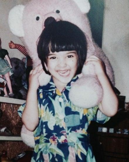 kriti sanon childhood photo