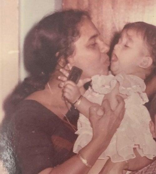 nayanthara childhood photo