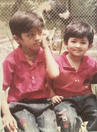 nidhi bisht childhood photo