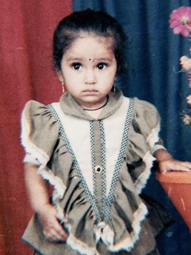 pranali ghogare childhood photo