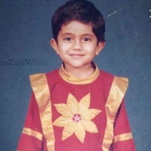 salman zaidi childhood photo
