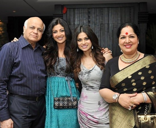 shamita shetty family