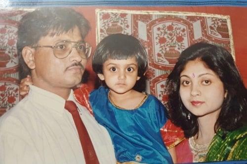 tanvi dogra childhood photo