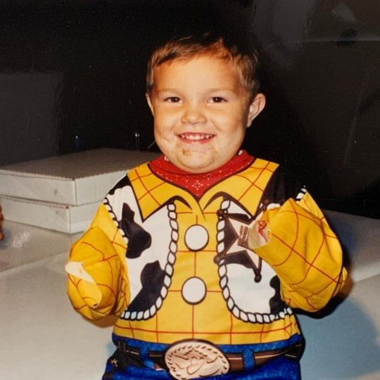 tayler holder childhood photo