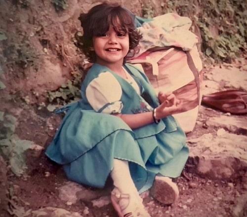 surbhi chandna childhood photo