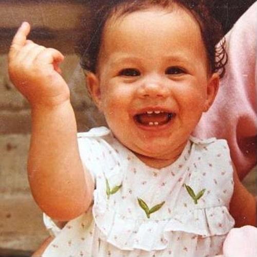 meghan markle childhood photo