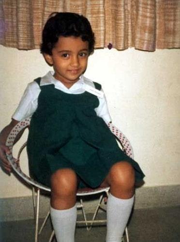 trisha krishnan childhood photo