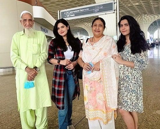 zareen khan family